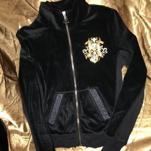 Miss Me Girls Velour jacket Sz M